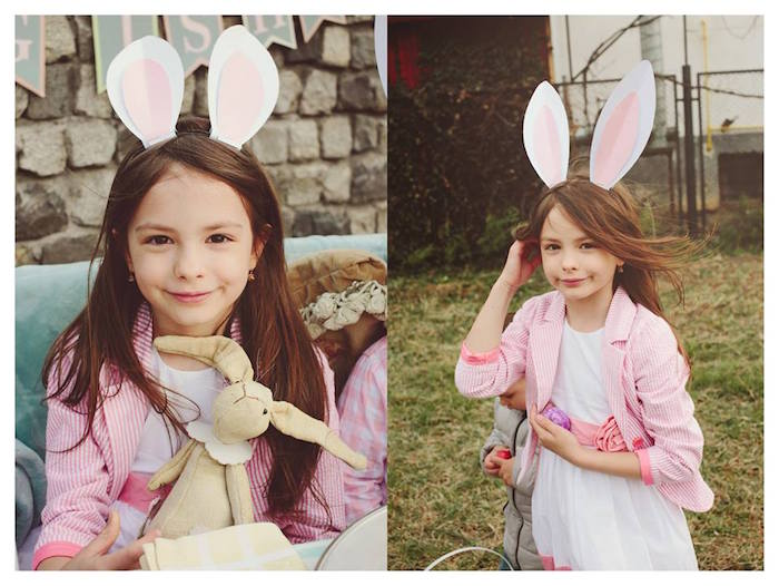 Little Girl from a Spring Easter Brunch Party via Kara's Party Ideas! KarasPartyIdeas.com (3)