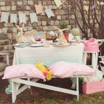 Party Setup from a Spring Easter Brunch Party via Kara's Party Ideas! KarasPartyIdeas.com (1)