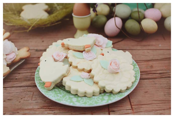 Cookies from a Spring Easter Brunch Party via Kara's Party Ideas! KarasPartyIdeas.com (30)