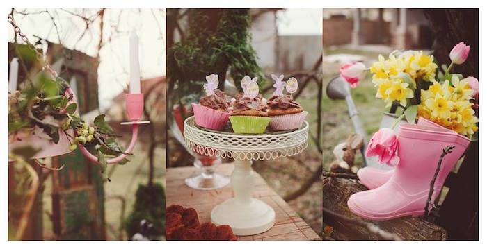 Cupcakes + Decor from a Spring Easter Brunch Party via Kara's Party Ideas! KarasPartyIdeas.com (29)