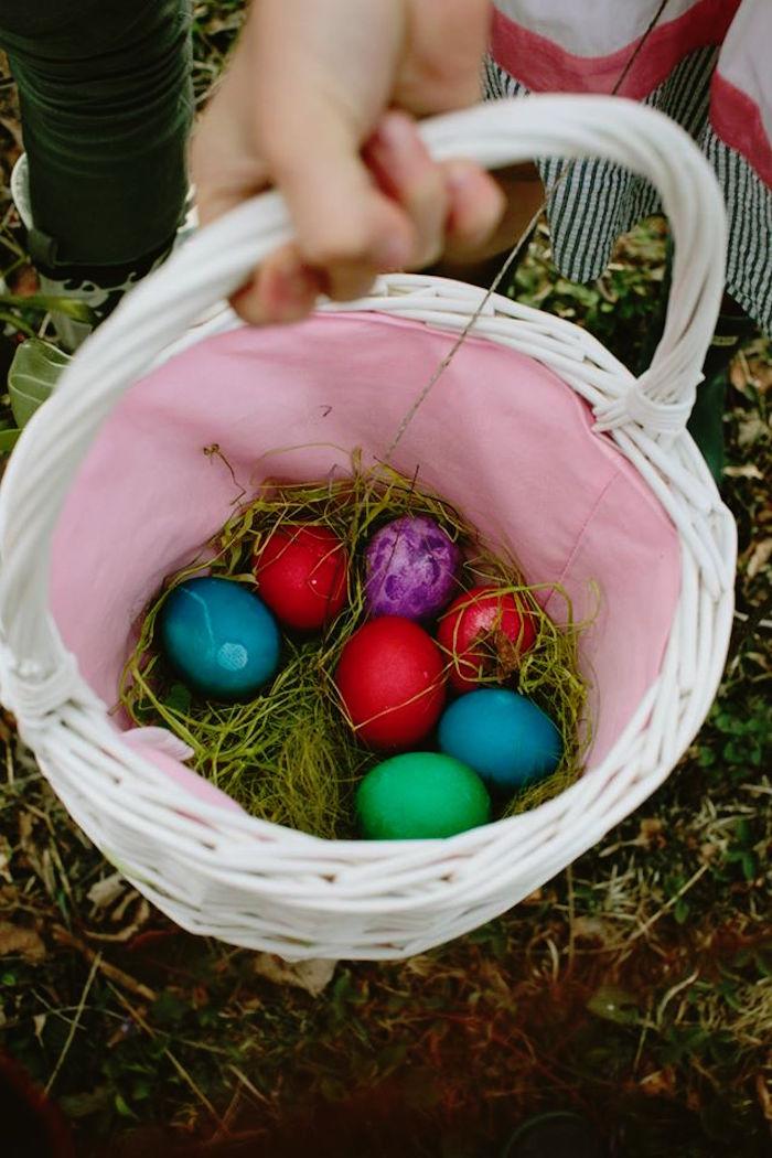 Easter Basket from a Spring Easter Brunch Party via Kara's Party Ideas! KarasPartyIdeas.com (26)