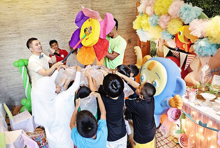 Flower Piñata from a Sunny Garden 1st Birthday Party via Kara's Party Ideas | The Place for All Things Party! KarasPartyIdeas.com (9)