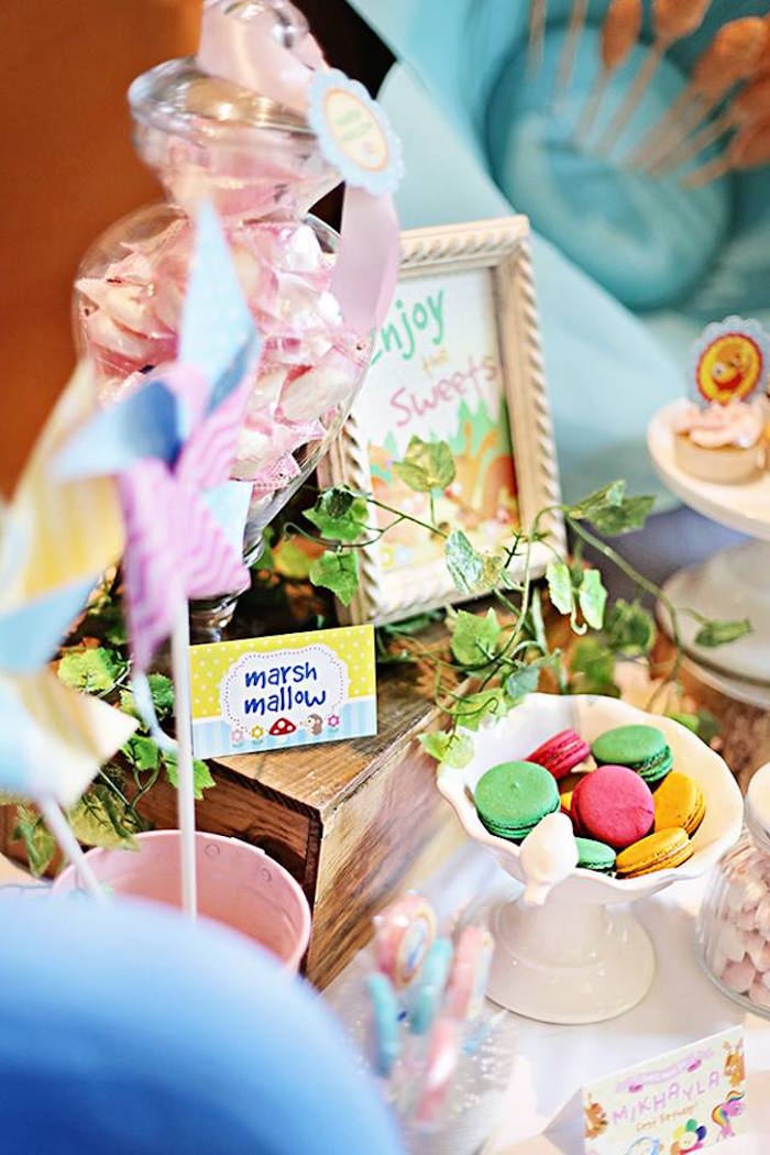 Sweet Table Details from a Sunny Garden 1st Birthday Party via Kara's Party Ideas | The Place for All Things Party! KarasPartyIdeas.com (3)
