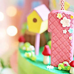 Cake Detail from a Sunny Garden 1st Birthday Party via Kara's Party Ideas | The Place for All Things Party! KarasPartyIdeas.com (1)