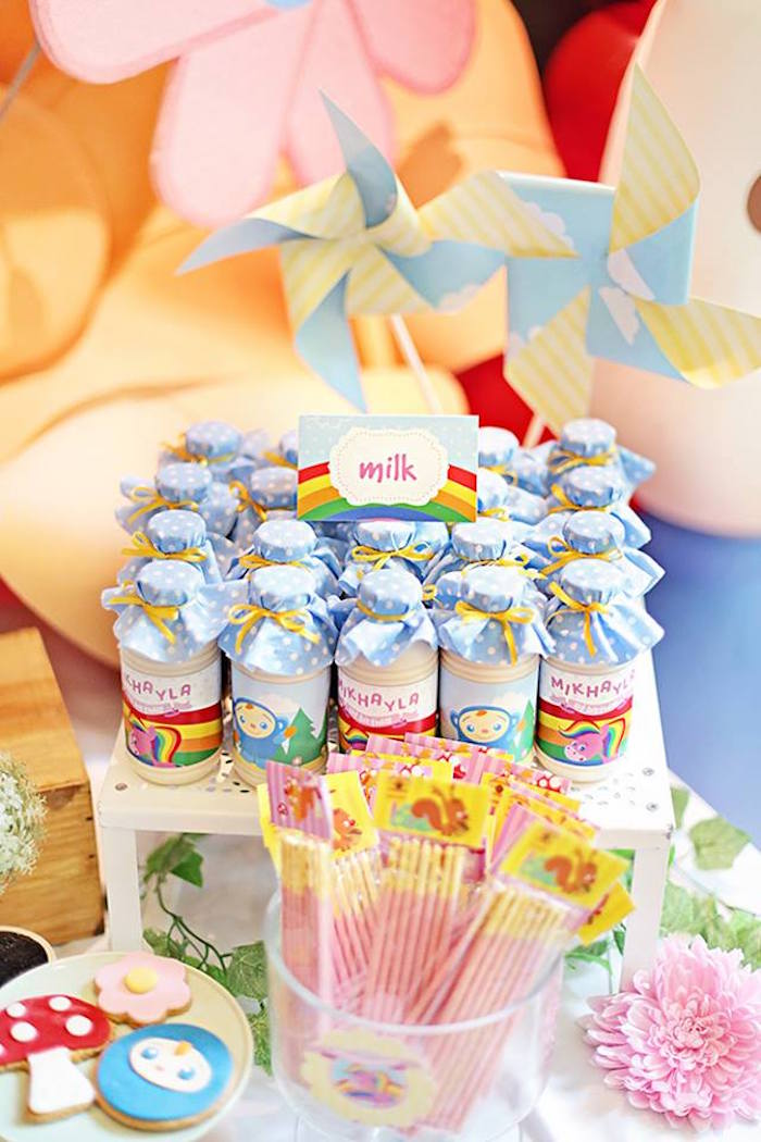 Milk + Sweets from a Sunny Garden 1st Birthday Party via Kara's Party Ideas | The Place for All Things Party! KarasPartyIdeas.com (18)