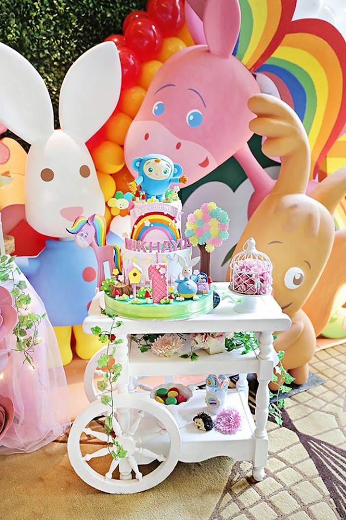Birthday Cake Images With Name Sunny : Kara s Party Ideas Sunny Garden 1st Birthday Party Kara ...