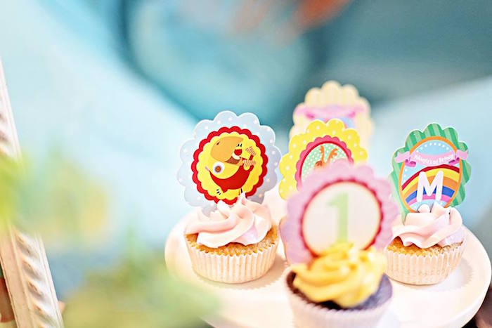 Cupcakes from a Sunny Garden 1st Birthday Party via Kara's Party Ideas | The Place for All Things Party! KarasPartyIdeas.com (16)