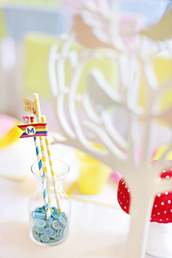 Paper Straws from a Sunny Garden 1st Birthday Party via Kara's Party Ideas | The Place for All Things Party! KarasPartyIdeas.com (13)