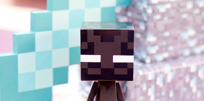 "Enderman from a ""The End"" Minecraft Inspired Birthday Party via Kara's Party Ideas 