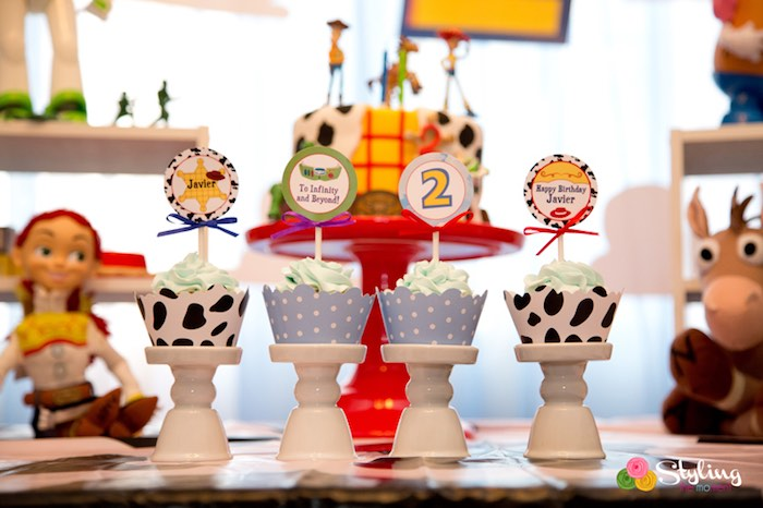Cupcakes from a Toy Story Themed Birthday Party via Kara's Party Ideas | The Place for All Things Party! KarasPartyIdeas.com (24)