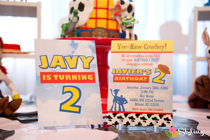 Invitation from a Toy Story Themed Birthday Party via Kara's Party Ideas | The Place for All Things Party! KarasPartyIdeas.com (22)