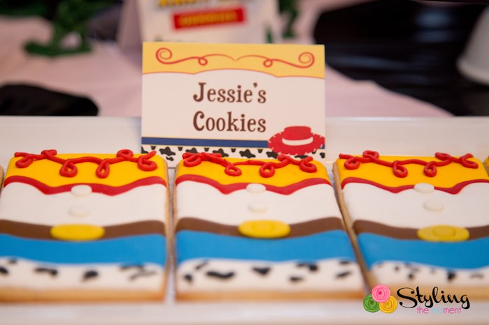 Jessie's Cookies from a Toy Story Themed Birthday Party via Kara's Party Ideas | The Place for All Things Party! KarasPartyIdeas.com (34)