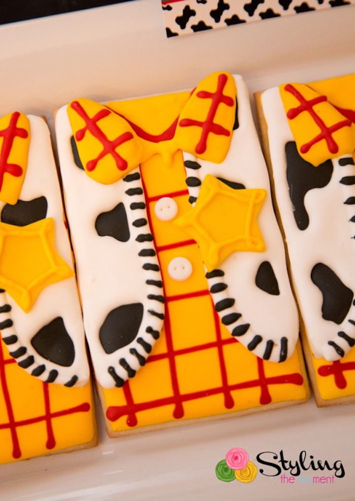 Woody themed Cookies from a Toy Story Themed Birthday Party via Kara's Party Ideas | The Place for All Things Party! KarasPartyIdeas.com (15)