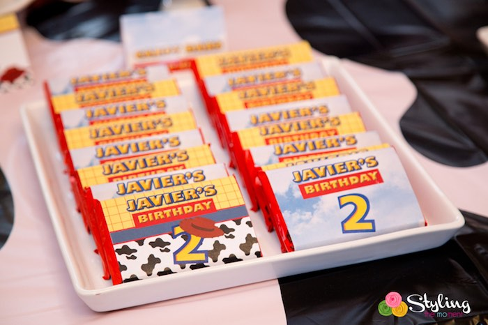 Chocolate Bars from a Toy Story Themed Birthday Party via Kara's Party Ideas | The Place for All Things Party! KarasPartyIdeas.com (14)