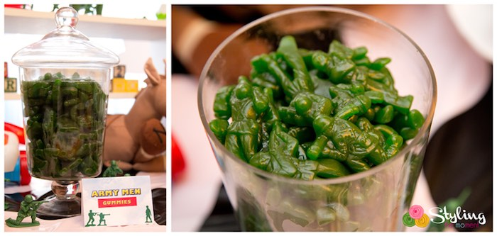 Army Men Gummies from a Toy Story Themed Birthday Party via Kara's Party Ideas | The Place for All Things Party! KarasPartyIdeas.com (11)