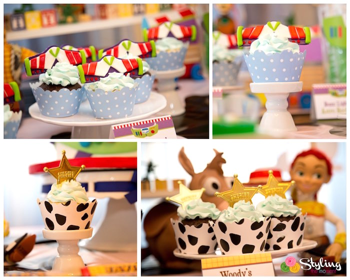 Cupcakes from a Toy Story Themed Birthday Party via Kara's Party Ideas | The Place for All Things Party! KarasPartyIdeas.com (8)