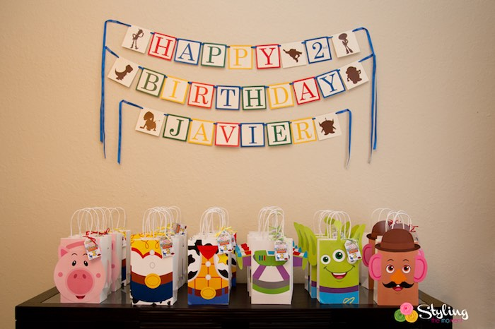 Favor Table from a Toy Story Themed Birthday Party via Kara's Party Ideas | The Place for All Things Party! KarasPartyIdeas.com (30)