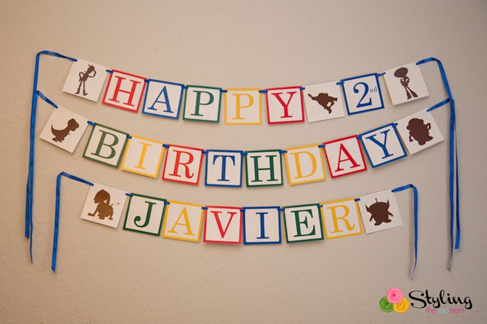 Happy Birthday Banner from a Toy Story Themed Birthday Party via Kara's Party Ideas | The Place for All Things Party! KarasPartyIdeas.com (29)