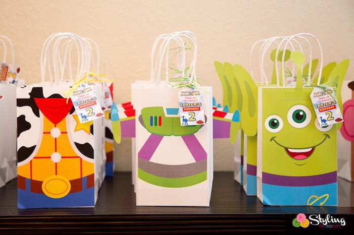 Favor Sacks from a Toy Story Themed Birthday Party via Kara's Party Ideas | The Place for All Things Party! KarasPartyIdeas.com (27)