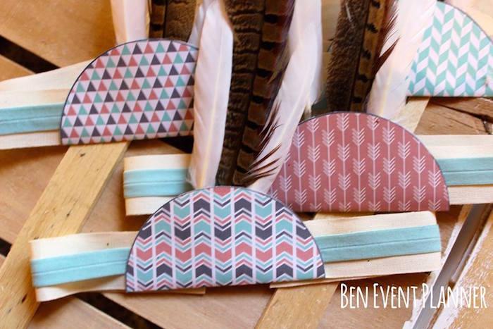 Headbands from a Tribal Boho Birthday Party via Kara's Party Ideas | KarasPartyIdeas.com (16)