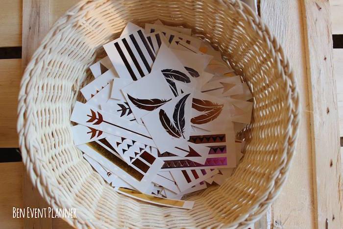 Stickers + Temporary Tattoos from a Tribal Boho Birthday Party via Kara's Party Ideas | KarasPartyIdeas.com (27)