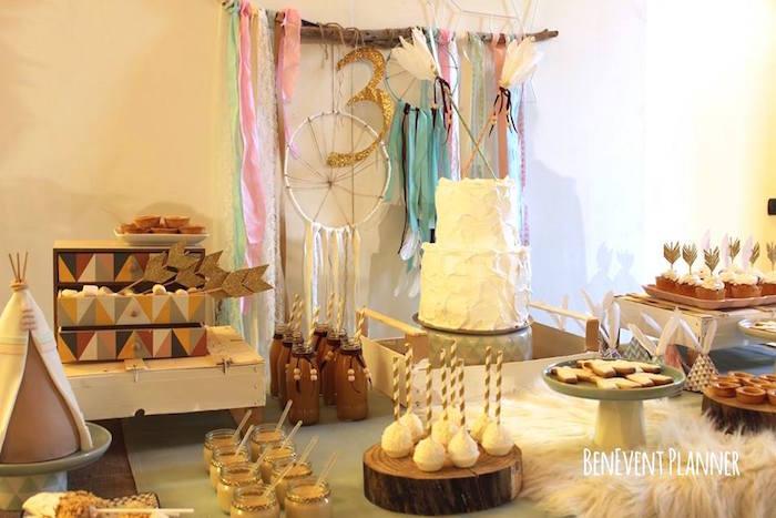 Sweets + Treats from a Tribal Boho Birthday Party via Kara's Party Ideas | KarasPartyIdeas.com (26)