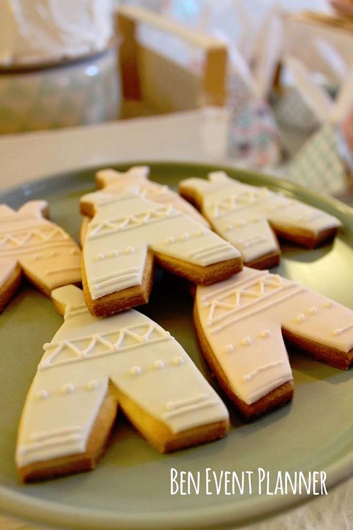 Teepee Cookies from a Tribal Boho Birthday Party via Kara's Party Ideas | KarasPartyIdeas.com (24)