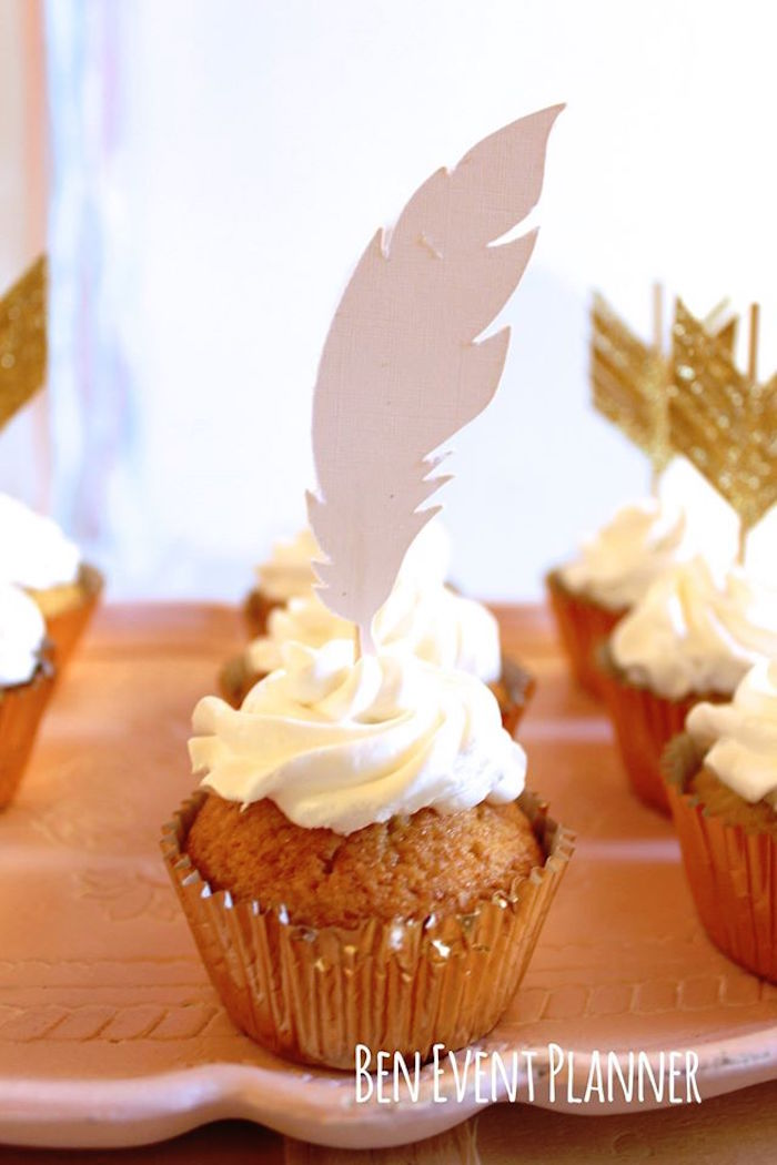 Cupcake from a Tribal Boho Birthday Party via Kara's Party Ideas | KarasPartyIdeas.com (21)