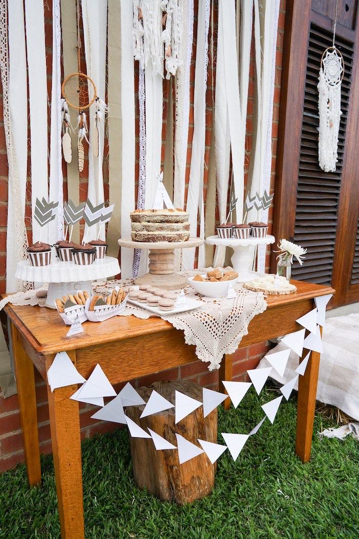Sweet Table from a Tribal First Birthday Party via Kara's Party Ideas | KarasPartyIdeas.com (15)
