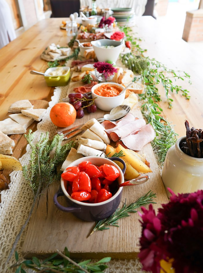Food Table from a Tribal First Birthday Party via Kara's Party Ideas | KarasPartyIdeas.com (13)
