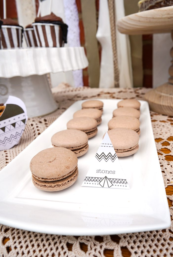 Macarons from a Tribal First Birthday Party via Kara's Party Ideas | KarasPartyIdeas.com (10)