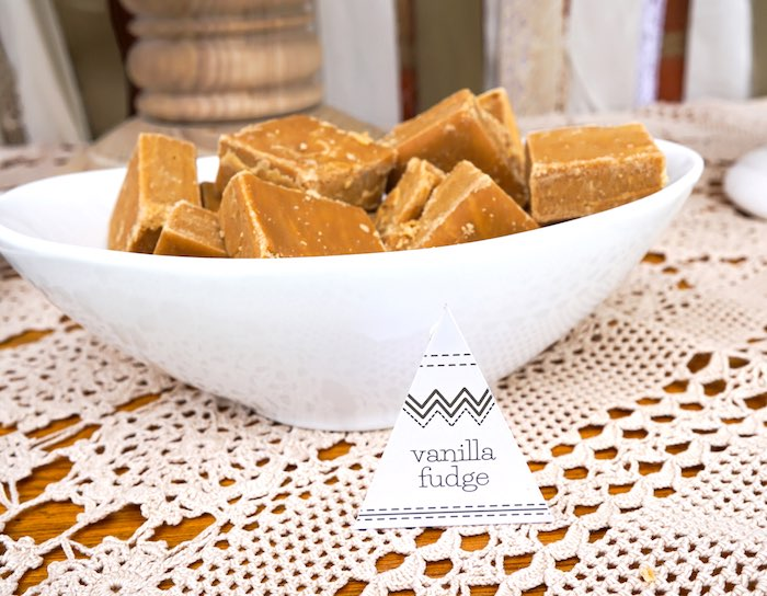 Vanilla Fudge from a Tribal First Birthday Party via Kara's Party Ideas | KarasPartyIdeas.com (7)