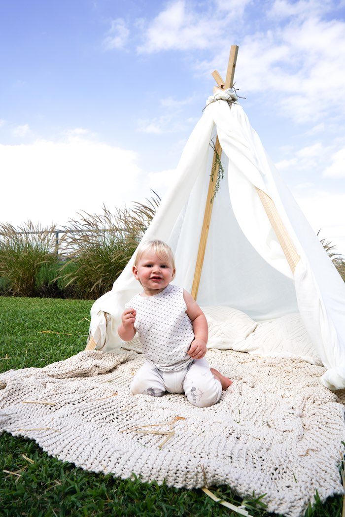 Tribal Teepee from a Tribal First Birthday Party via Kara's Party Ideas | KarasPartyIdeas.com (24)