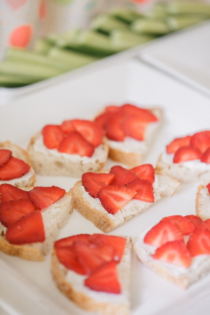 Strawberry and Ricotta Toast from a Tutti Frutti Birthday Party via Kara's Party Ideas | KarasPartyIdeas.com (31)