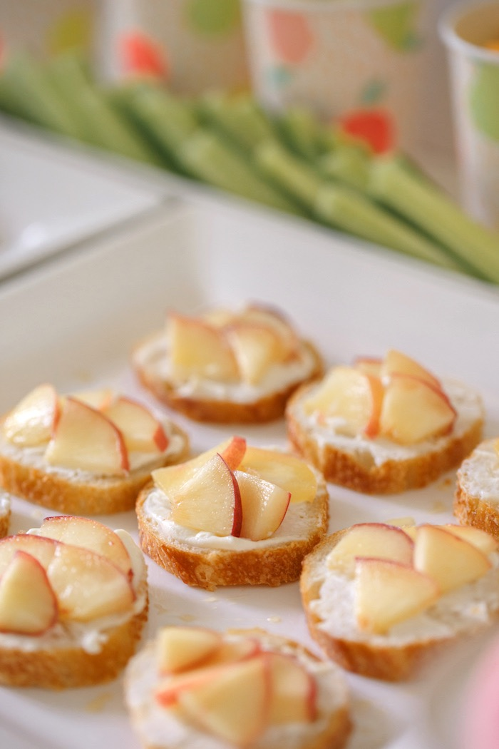 Peach and Ricotta Toast from a Tutti Frutti Birthday Party via Kara's Party Ideas | KarasPartyIdeas.com (30)