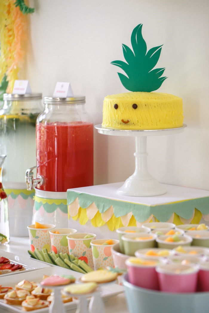 Cake + Sweet Table Details from a Tutti Frutti Birthday Party via Kara's Party Ideas | KarasPartyIdeas.com (28)