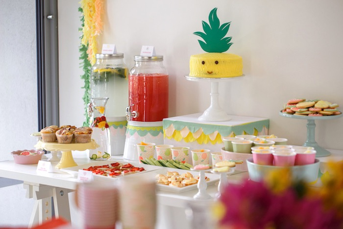 Sweet Table from a Tutti Frutti Birthday Party via Kara's Party Ideas | KarasPartyIdeas.com (27)