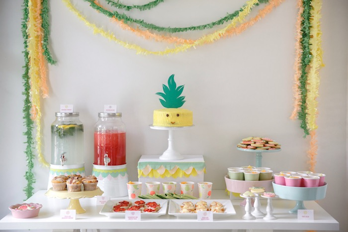 Dessert Table from a Tutti Frutti Birthday Party via Kara's Party Ideas | KarasPartyIdeas.com (42)