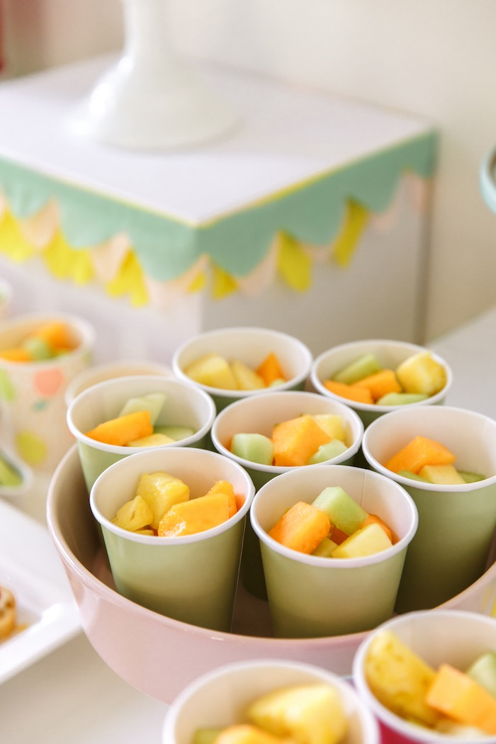Fruit Cups from a Tutti Frutti Birthday Party via Kara's Party Ideas | KarasPartyIdeas.com (20)