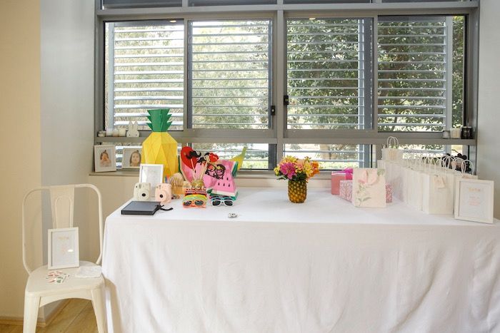 Photo Prop + Favor Table from a Tutti Frutti Birthday Party via Kara's Party Ideas | KarasPartyIdeas.com (19)