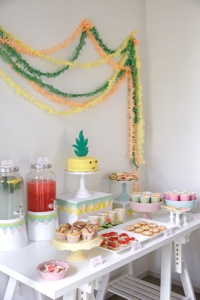 Dessert Table from a Tutti Frutti Birthday Party via Kara's Party Ideas | KarasPartyIdeas.com (41)