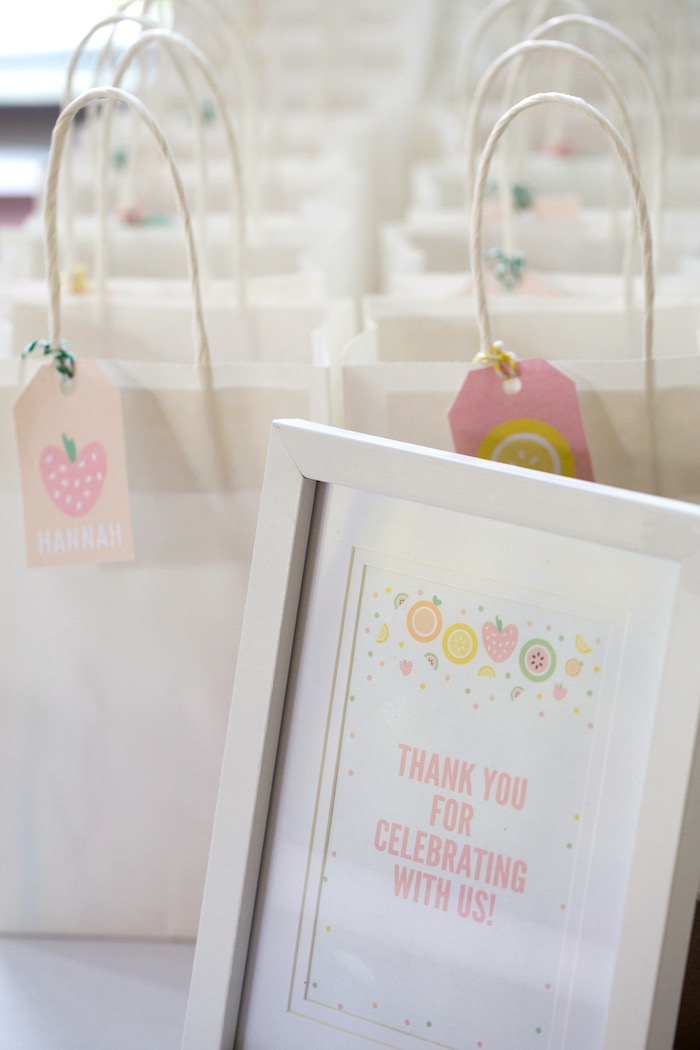 Favor Bags from a Tutti Frutti Birthday Party via Kara's Party Ideas | KarasPartyIdeas.com (13)
