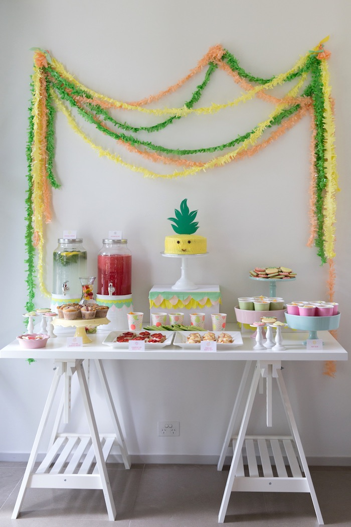 Dessert Table from a Tutti Frutti Birthday Party via Kara's Party Ideas | KarasPartyIdeas.com (11)