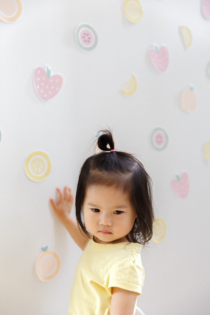 Birthday Girl + Fruit Backdrop from a Tutti Frutti Birthday Party via Kara's Party Ideas | KarasPartyIdeas.com (39)