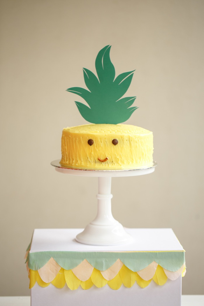 Pineapple Cake from a Tutti Frutti Birthday Party via Kara's Party Ideas | KarasPartyIdeas.com (37)