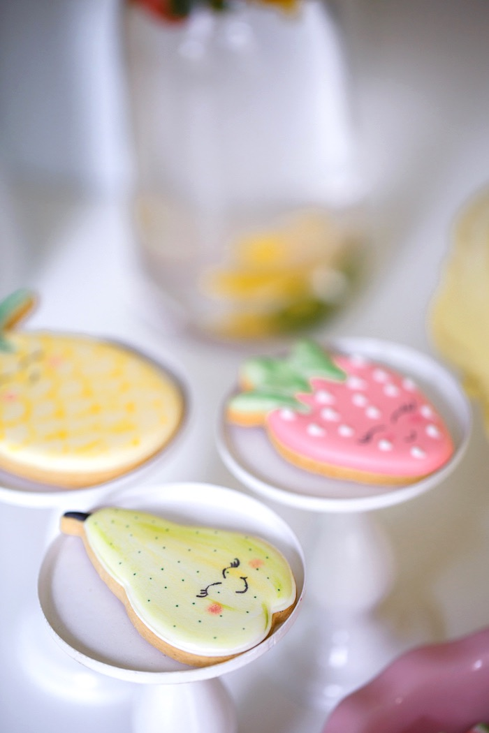 Fruit Cookies from a Tutti Frutti Birthday Party via Kara's Party Ideas | KarasPartyIdeas.com (34)