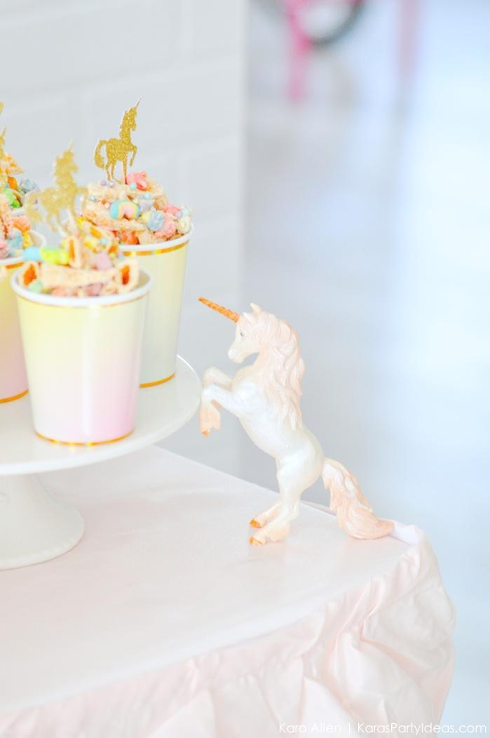 Unicorn cake stand at a unicorn themed birthday party by Kara's Party Ideas | Kara Allen | KarasPartyIdeas.com-200-52