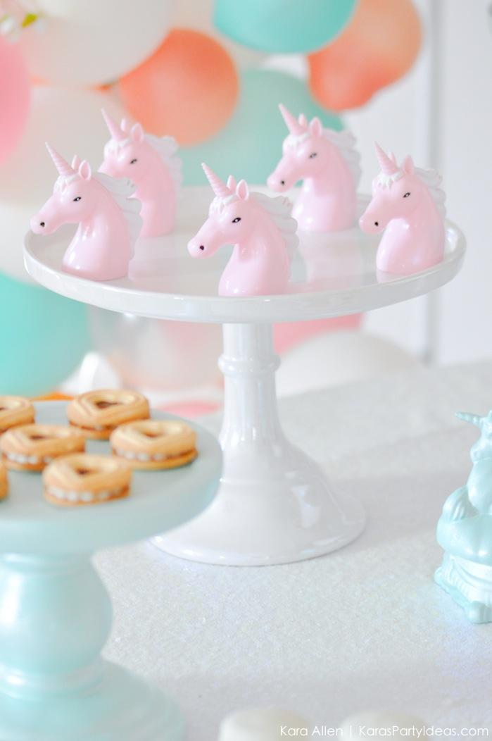 Unicorn party favors at a Unicorn themed birthday party by Kara's Party Ideas | Kara Allen | KarasPartyIdeas.com