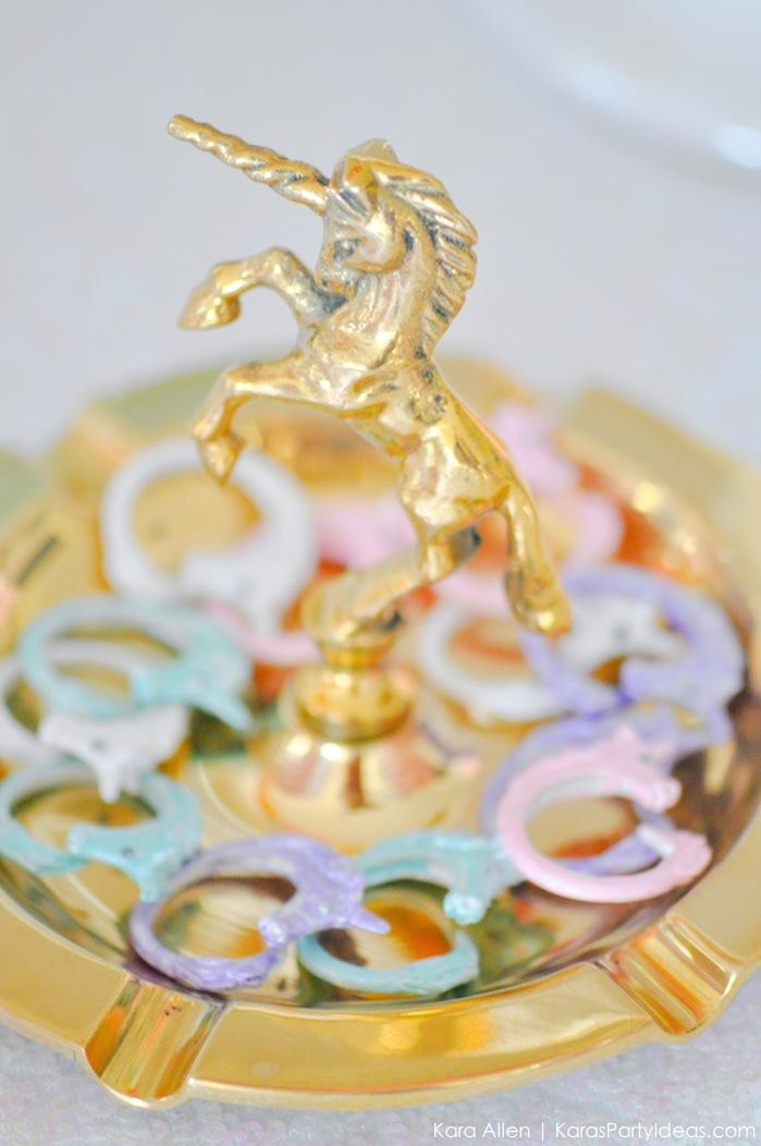 Unicorn rings at a unicorn themed birthday party by Kara's Party Ideas | Kara Allen | KarasPartyIdeas.com-43
