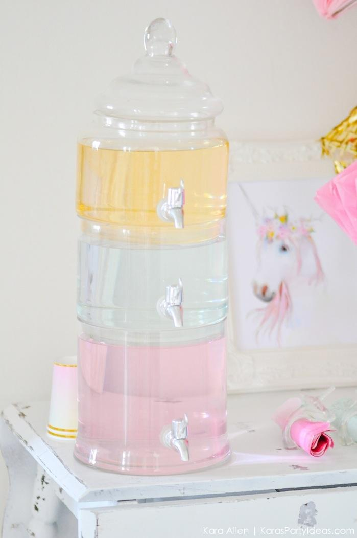 Unicorn tears drink at a unicorn themed birthday party by Kara's Party Ideas | Kara Allen | KarasPartyIdeas.com